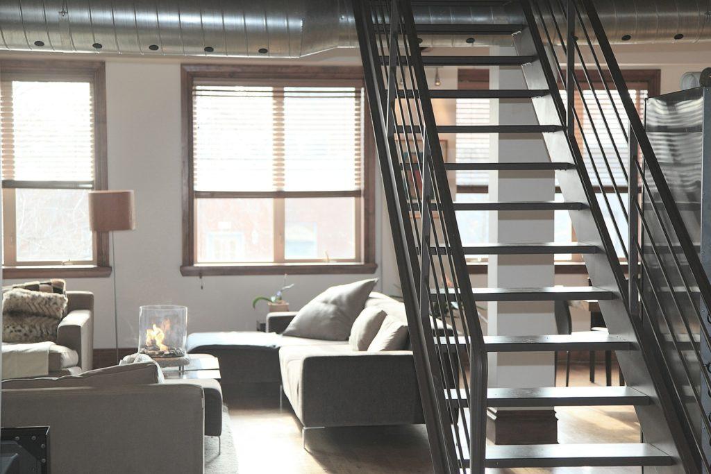 Stahltreppe in Loft